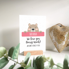 Personalised Printed A5 Acrylic Plaque - Beary Much