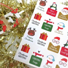 Printed Vinyl Sticker Sheets - Mixed Christmas Designs PRINTED VINYL DESIGNS