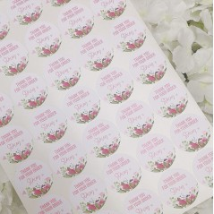 Printed Vinyl Sticker Sheets - Floral Thank You - Matt PRINTED VINYL DESIGNS