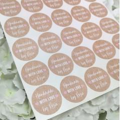 Printed Vinyl Sticker Sheets - Handmade With Love Kraft Style