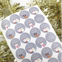 Printed Vinyl Christmas Stickers - Choose From Options.