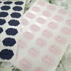 Printed Vinyl Sticker Sheets - Thank You Hexagon PRINTED VINYL DESIGNS