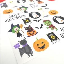Printed Vinyl Sticker Sheets - Mixed Halloween Halloween