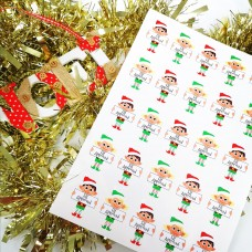 Printed Vinyl Sticker Sheets -Mixed Elf Boy and Girl Elf Approved PRINTED VINYL DESIGNS