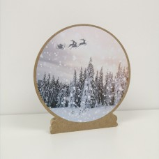 Printed Vinyl for Snow Globes Christmas Craft Shapes