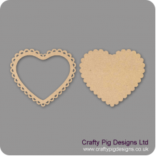 Scallop Heart Frame (2 Pieces) Basic Plaque Shapes