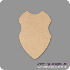 3mm MDF Shield Small MDF Embellishments