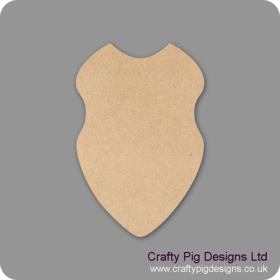 Shield (Pack of 5)(4cm) Small MDF Embellishments