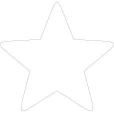3mm MDF Soft Point Standard Star (pack of 10) Small MDF Embellishments