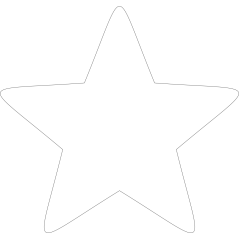 3mm MDF Soft Point Standard Star (singles) Small MDF Embellishments