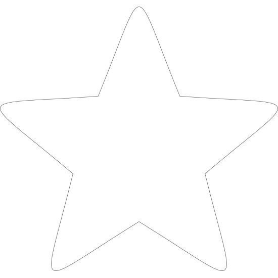 3mm MDF Soft Point Standard Star (singles) Small MDF Embellishments