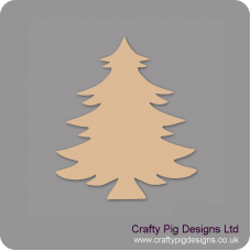 3mm MDF Christmas Spruce Tree (Pack of 5) Christmas Shapes