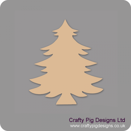 3mm MDF Christmas Spruce Tree (Pack of 5)