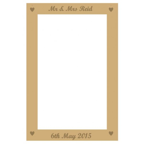 MDF Rectangular Wedding Drop Box 40x28cm (with solid etching scroll font names and date) Personalised and Bespoke