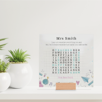 Printed IKEA Ribba or Sannahed Replacement Front Acrylic - Word Search - I May Not Remeber Everything