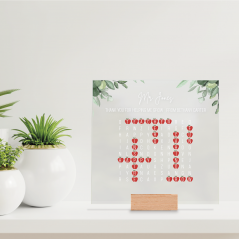Printed IKEA Ribba or Sannahed Replacement Front Acrylic - Word Search - Thank You For Helping Me Grow Teachers
