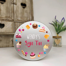 Personalised Printed Silver Tin - Syn Tin Personalised and Bespoke