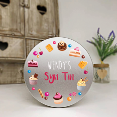 Personalised Printed Silver Tin - Syn Tin