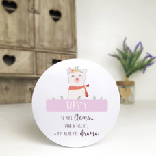Personalised Printed White Tin - Drama Llama Personalised and Bespoke