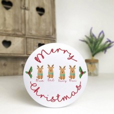 Personalised Printed White Tin - Reindeer Family Personalised and Bespoke