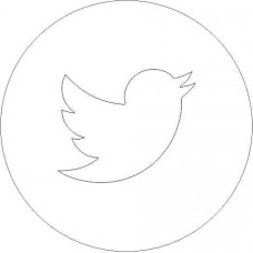Acrylic Twitter Icon (pack of 5) ACRYLIC ITEMS