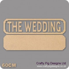 18mm The Wedding Street Sign