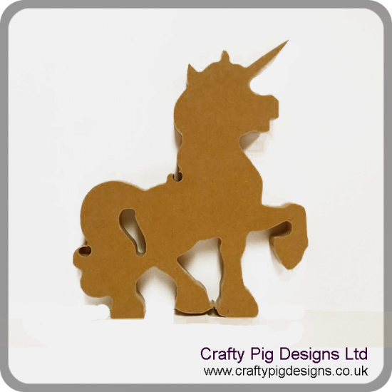18mm Unicorn 18mm MDF Craft Shapes