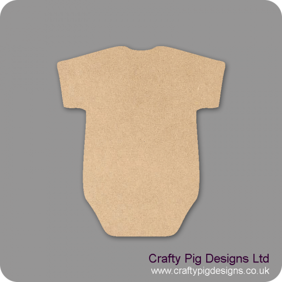 3mm MDF Baby's Vest Shape Baby Shapes