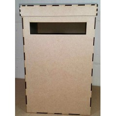 3mm MDF Wedding Card Post Box 40x25x25cm with lid