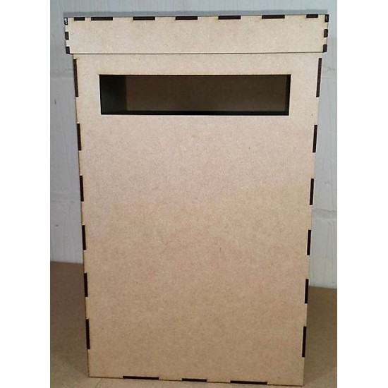 3mm MDF Wedding Card Post Box 40x25x25cm with lid Boxes