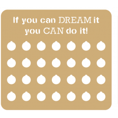 3mm - Weight Loss Plaque - If You Can Dream It!
