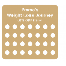 3mm Personalised Cut Out Weight Loss Plaque  Personalised and Bespoke