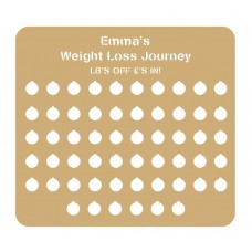 3mm Personalised Cut Out Weight Loss Plaque - 4 stone Personalised and Bespoke