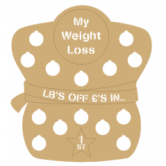 3mm - My Weight Loss Plaque - Figure Shape - Cut Out Letters