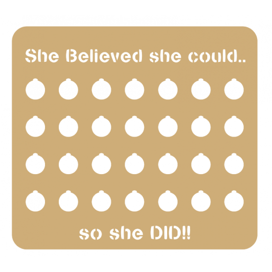 3mm - Weight Loss Plaque - She Believed She Could! Weight Loss charts