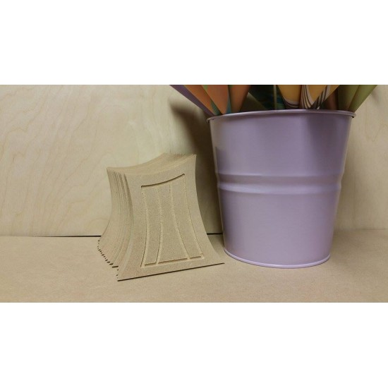6mm MDF Wonky Fairy Door (110mm high with routered lines) Fairy Doors and Fairy Shapes