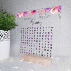 Printed IKEA Ribba or Sannahed Replacement Front Acrylic - Word Search Design 1  Mother's Day