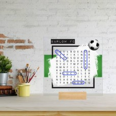 Printed IKEA Ribba or Sannahed Replacement Front Acrylic - Word Search Father's Day Design 2 (BLUE TEAM) Fathers Day