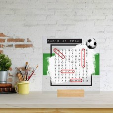 Printed IKEA Ribba or Sannahed Replacement Front Acrylic - Word Search Father's Day Design 3 (RED TEAM) Fathers Day