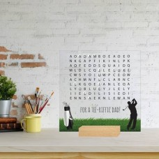 Printed IKEA Ribba or Sannahed Replacement Front Acrylic - Word Search Father's Day Design 4 (GOLF) Fathers Day