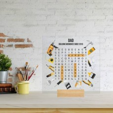 Printed IKEA Ribba or Sannahed Replacement Front Acrylic - Word Search Father's Day Design 5 (TOOLS) Fathers Day