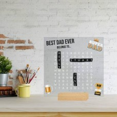 Printed IKEA Ribba or Sannahed Replacement Front Acrylic - Word Search Father's Day Design 6 (TROPHY) Fathers Day