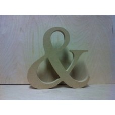 "18mm Freestanding  ""&"" Times New Roman Font 18mm MDF Craft Shapes"