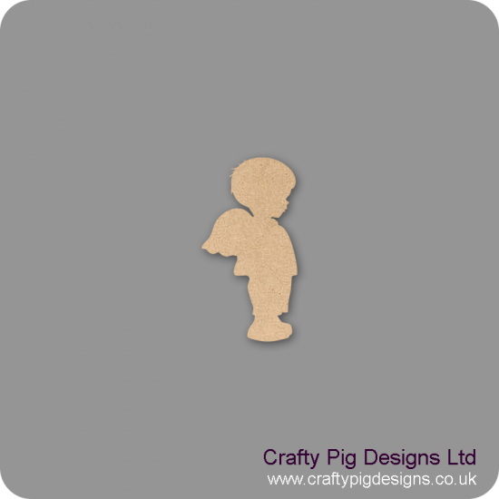 3mm MDF Angel Baby Boy With Wings Shape Baby Shapes