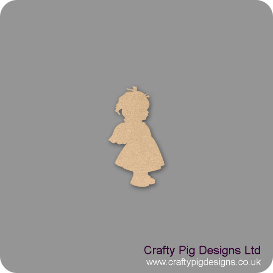 3mm MDF Angel Baby Girl With Wings Shape Baby Shapes