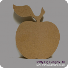 18mm Freestanding Apple (stalk and leaf) 18mm MDF Craft Shapes
