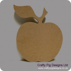 18mm Freestanding Apple (stalk and leaf) 18mm MDF Craft Shapes
