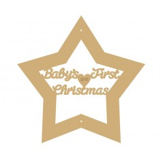 3mm MDF Baby's First Christmas Star 2020 Stars With Words In