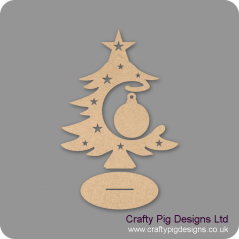 3mm MDF Blank Bauble and Tree on Stand