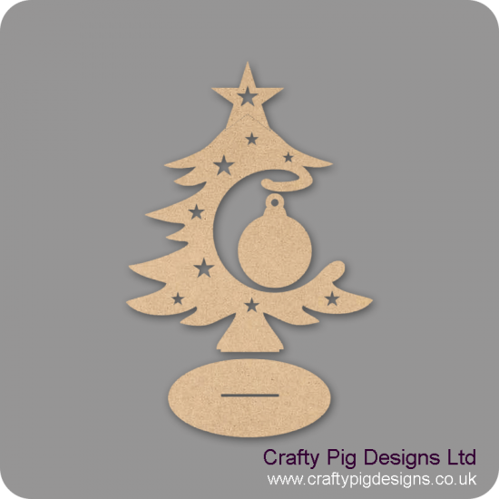 3mm MDF Blank Bauble and Tree on Stand Christmas Shapes